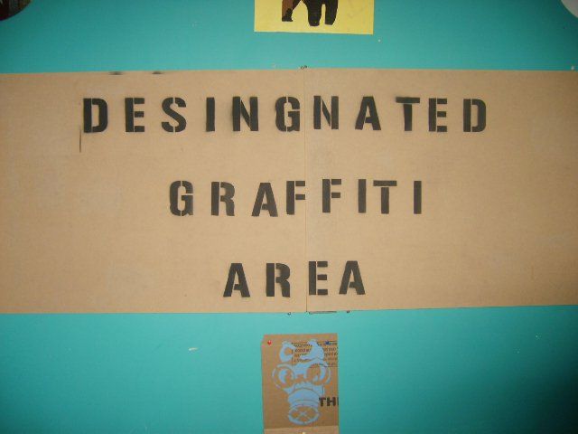 Designated Graffiti Area