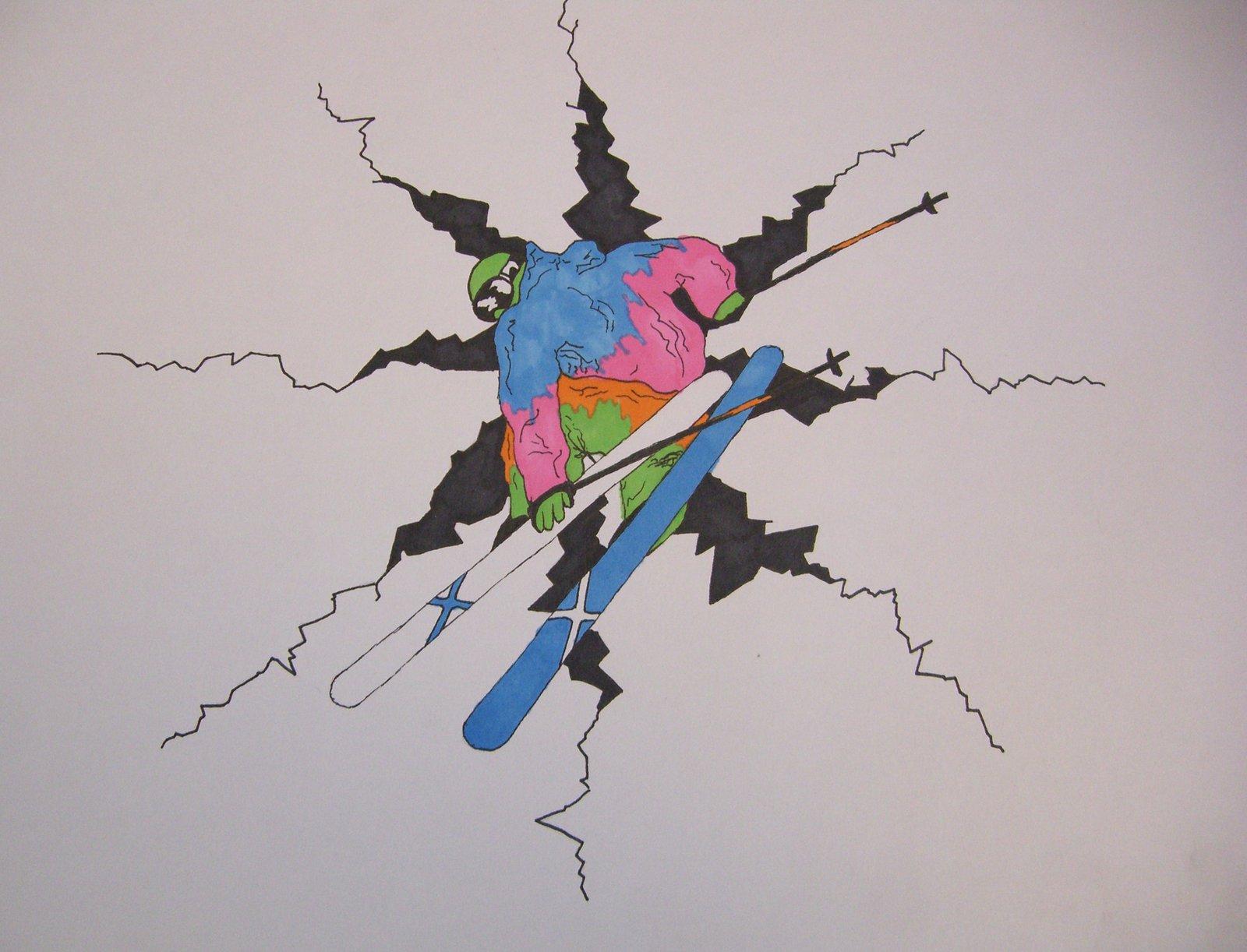 Skier drawing 2