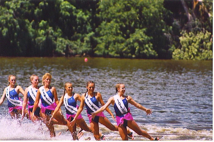Water skiing backwards