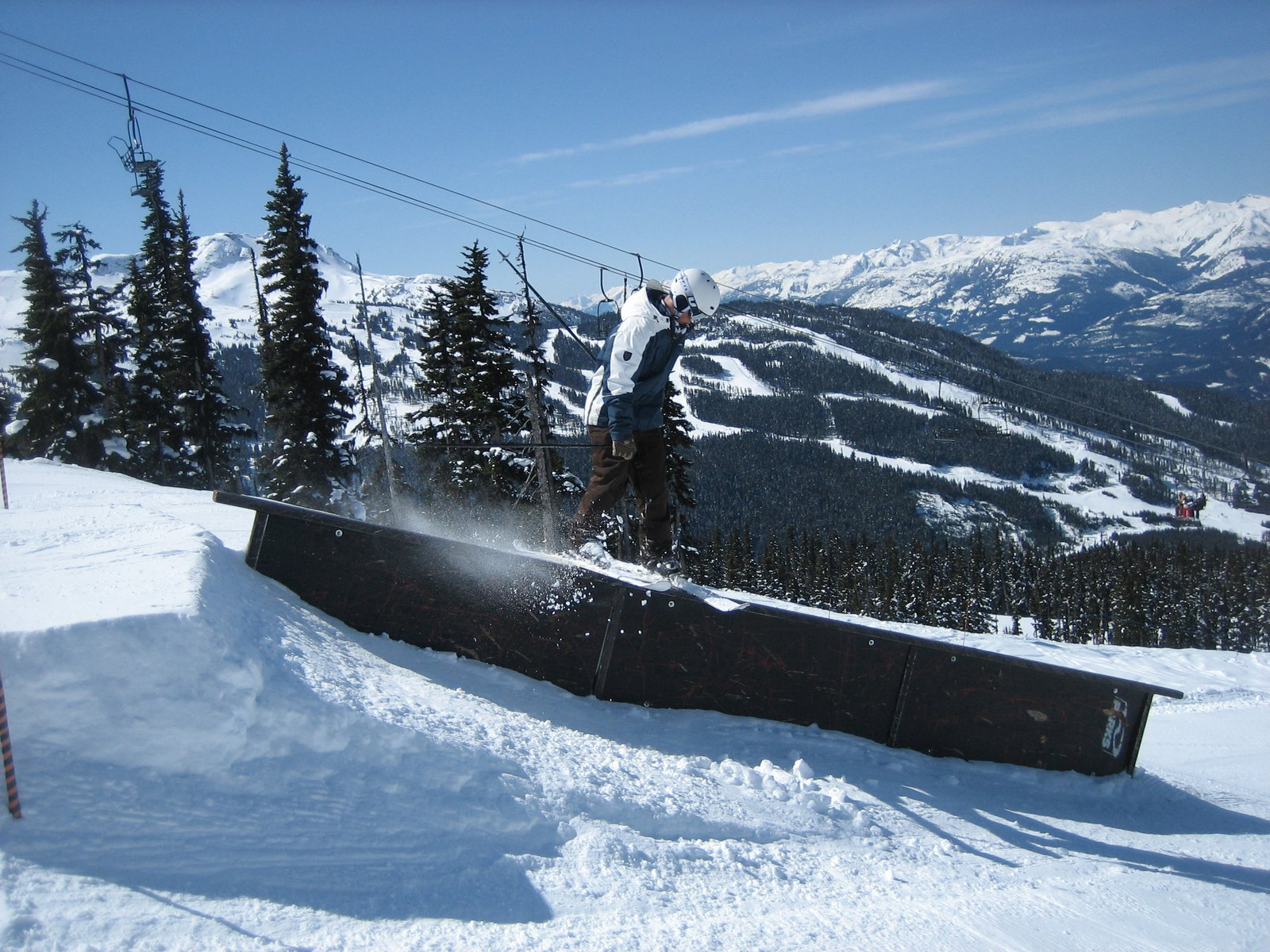 Down rail on Blackcomb