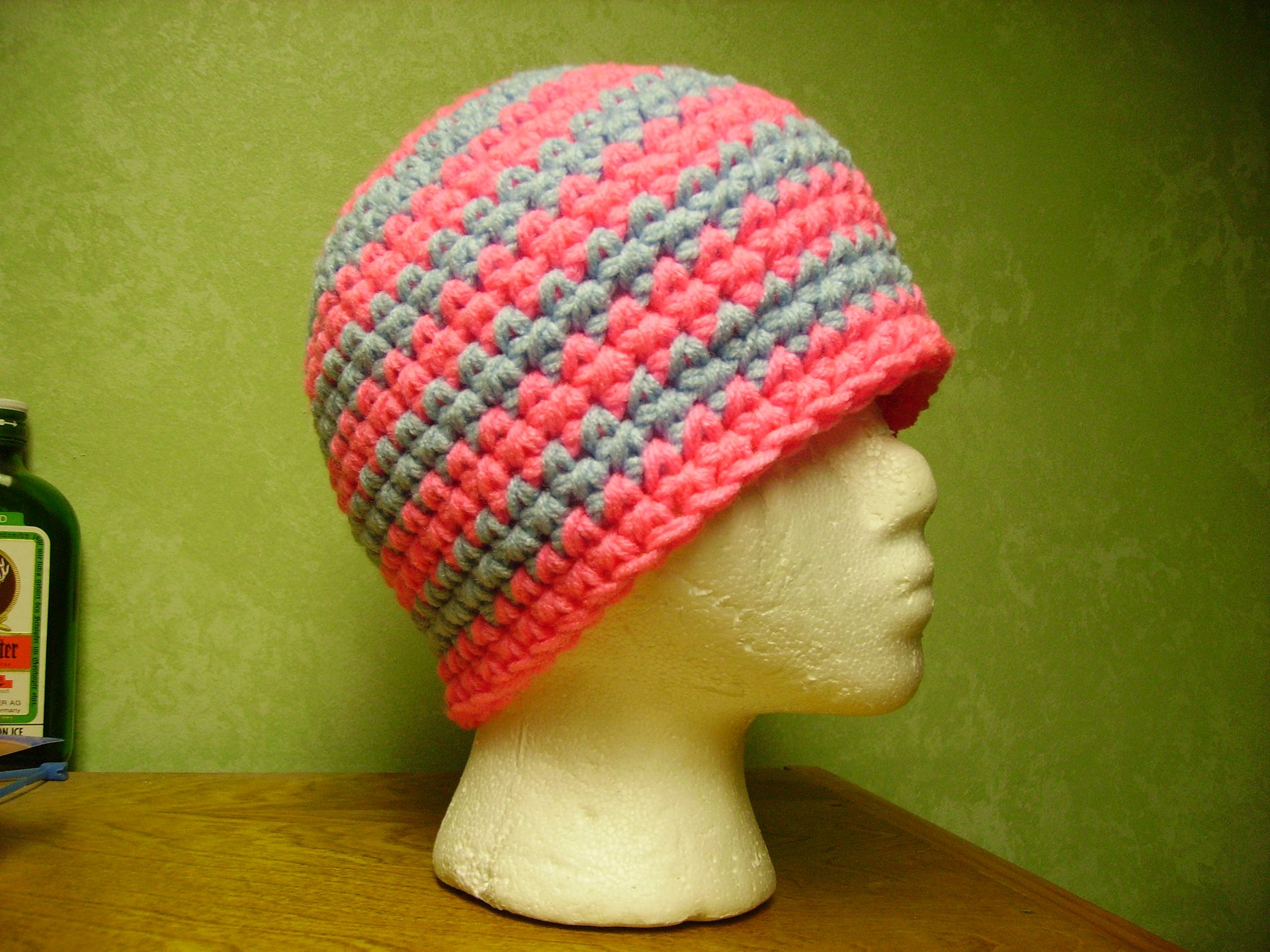 Pink and blue for customer