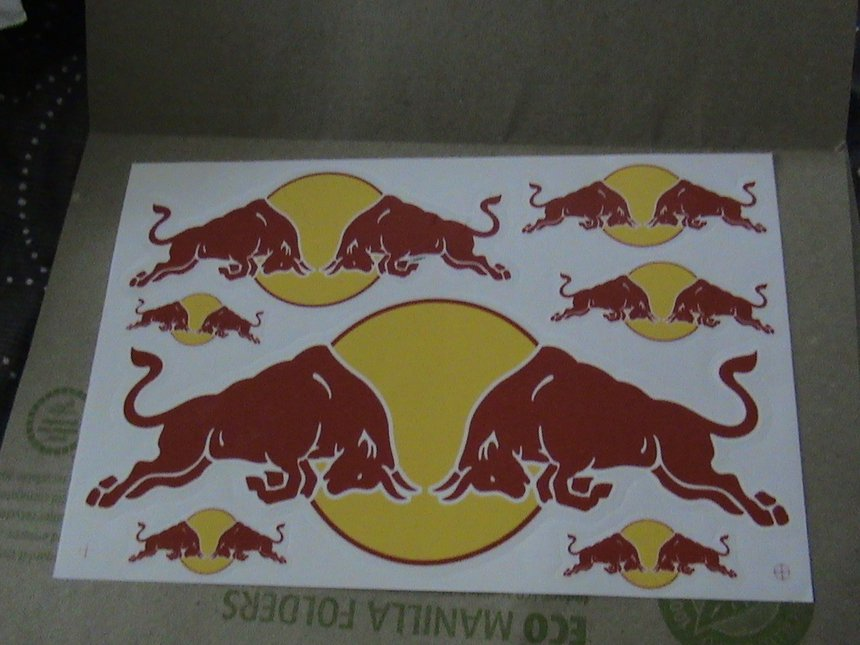 Red bull stickers