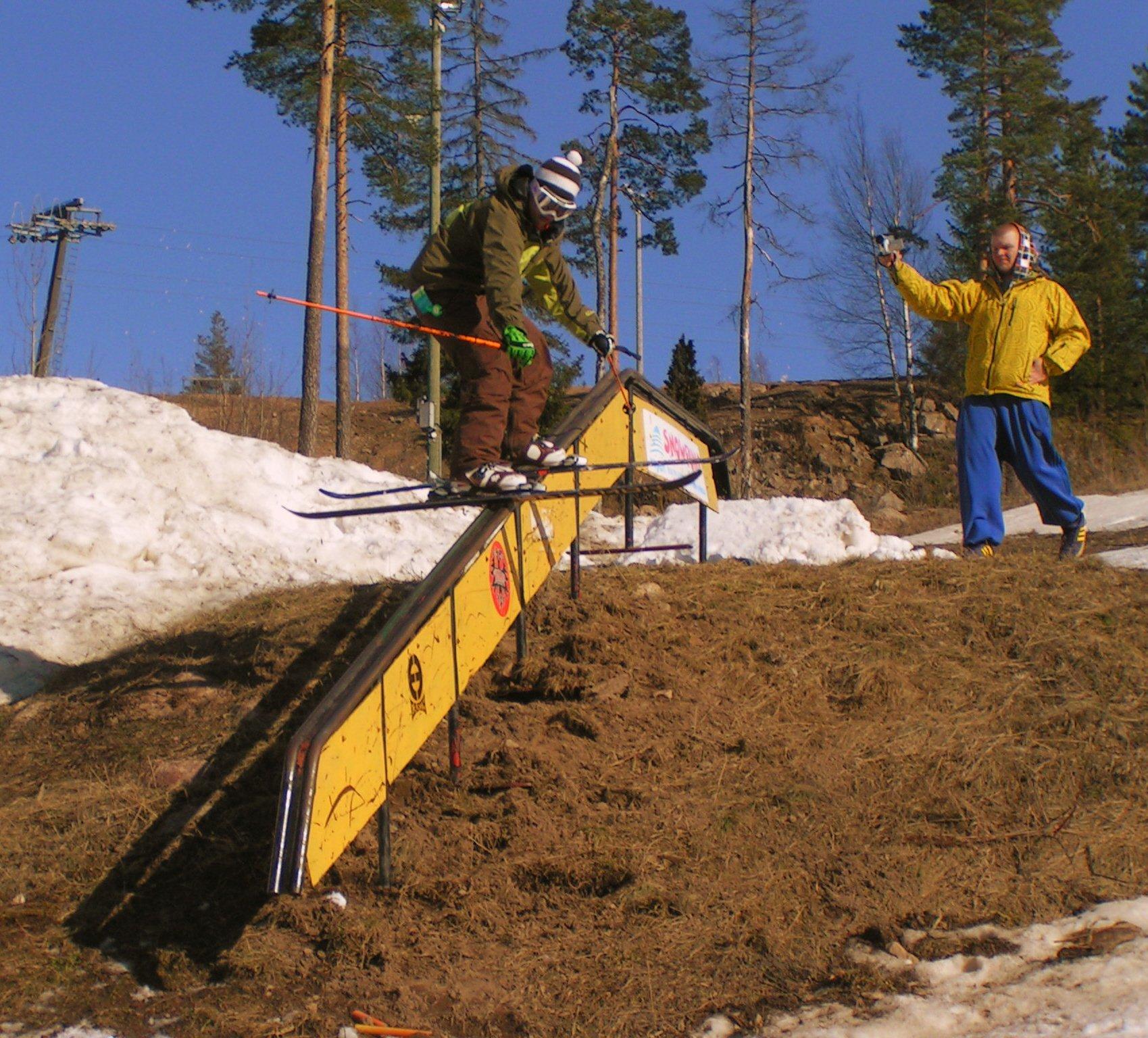 Unnatural railslide