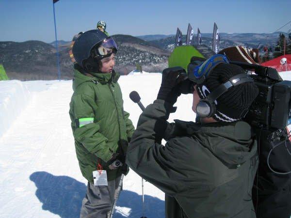 Brendan Mackay being interviewed by the Ride Guide