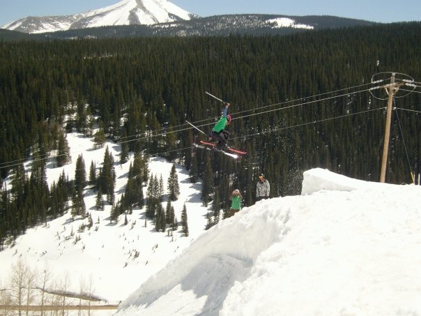 Going for a 3 Tail off Cornice