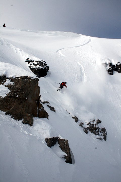 Icelantic Shoot - Scotty VerMerris - First Line Down Horseshoe Couloir on Icelantic Shaman - Jackson