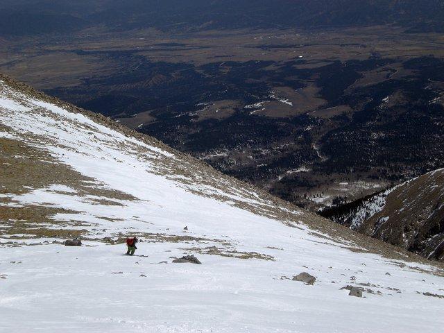 Near the top of Mount Shavano