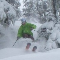 Shreddin pow in whistler