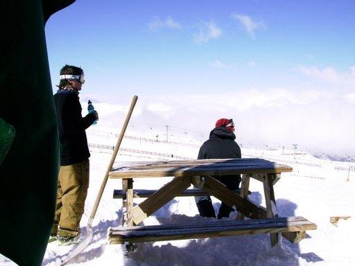 Break from shuvelling the snow