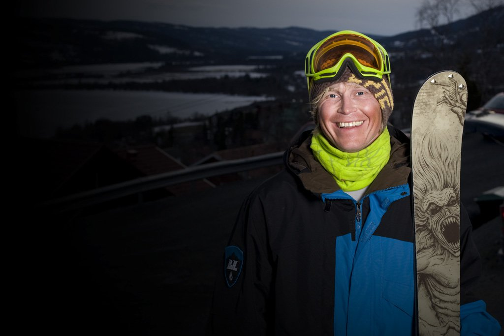 Happy skier on Ã…re Freeride 08