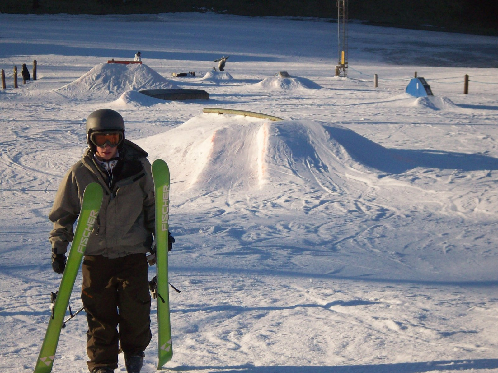 Me and a view of Swiss Valley terrain park