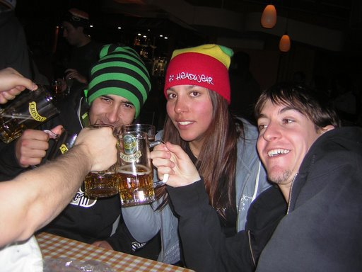Beers after skiing