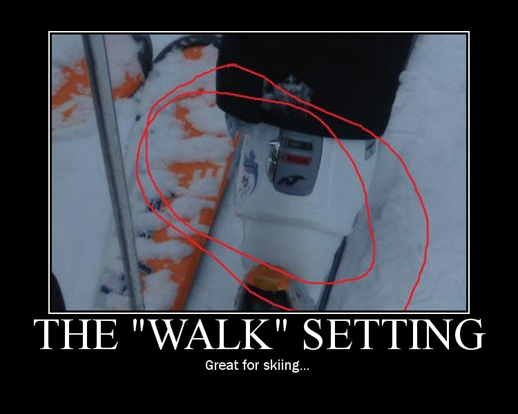 The Walk setting.. best for skeeing!!1