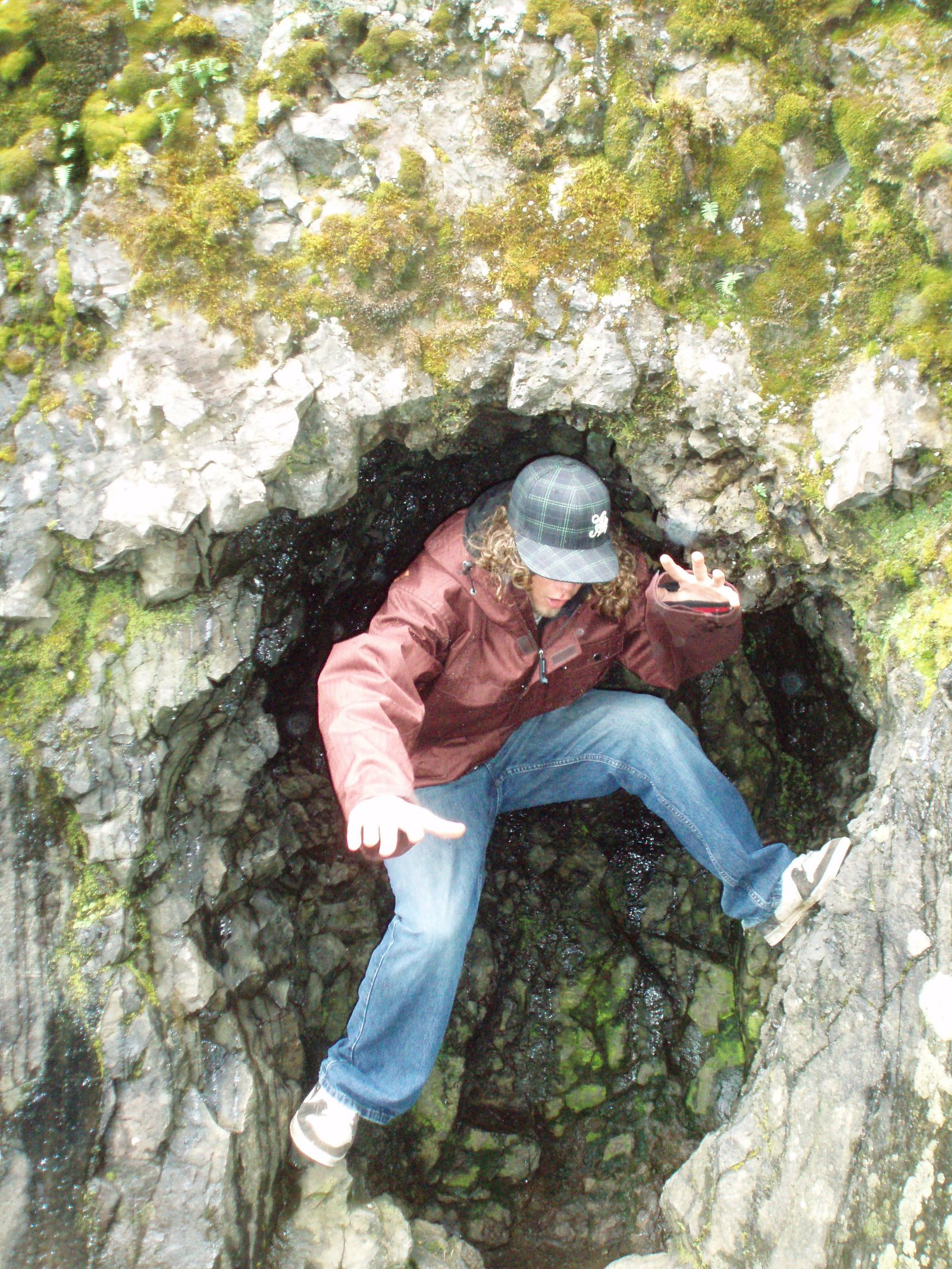Kevin Todd in rock formation