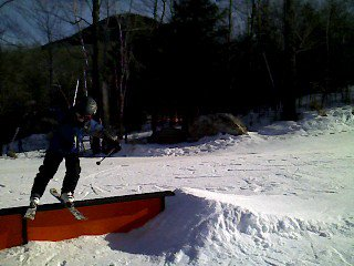 Slidin a rail at Loon