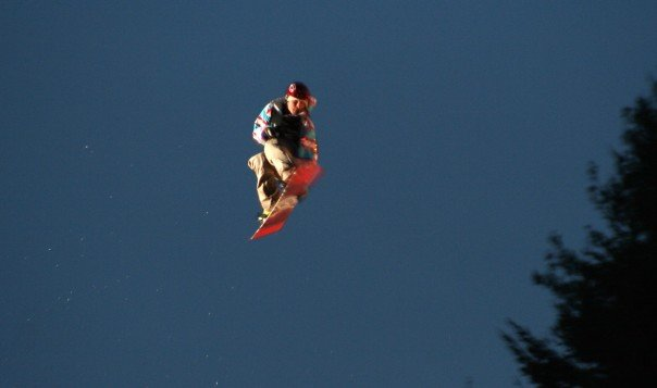 Telus Big Air Snowboarder