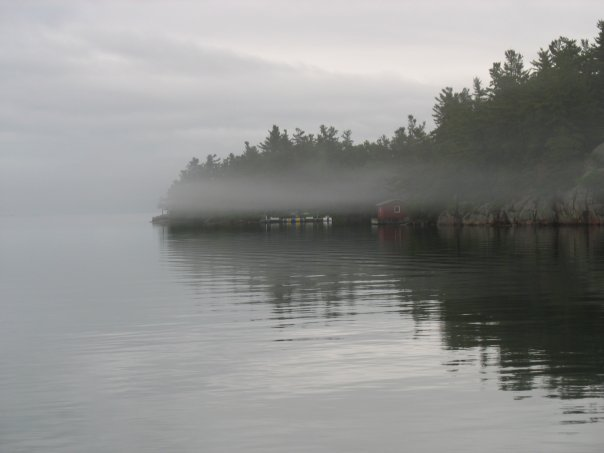 Early morning mist on the river
