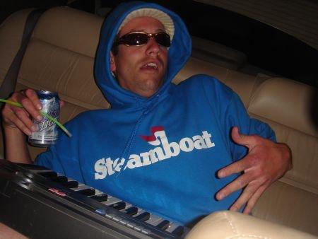 Brasser Keyboarding in the back of the LEX!