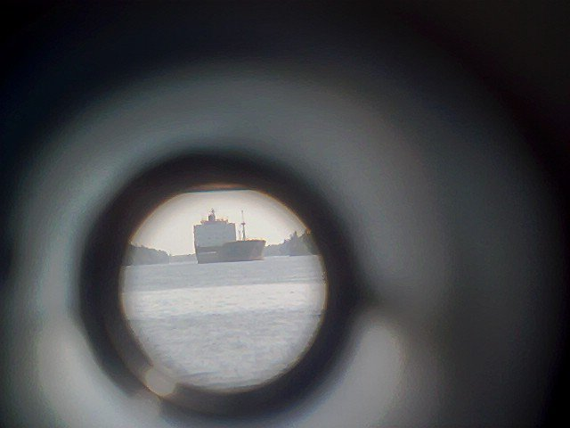 Pic of a freighter through telescope