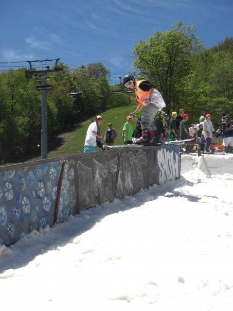 Mt snow Peace Pipe Rail jam