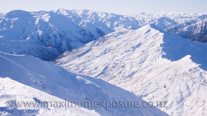 Mountains around Coronet Peak, Queenstown, New Zealand