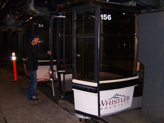 Whistler gondola at night