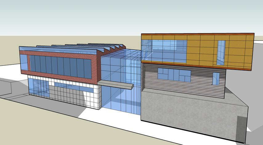 Architecture design in sketch up