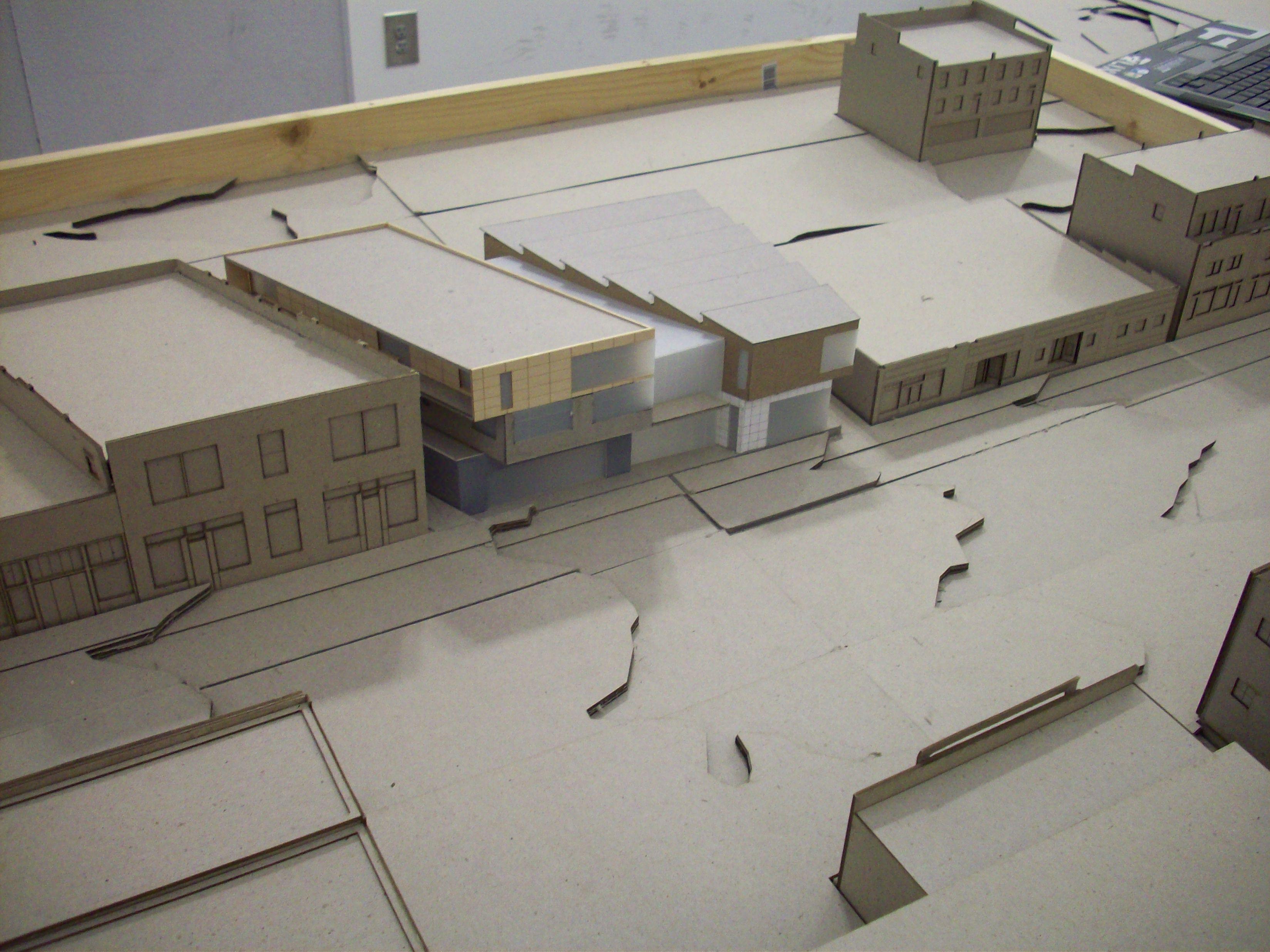 Model of my design for architecture studio