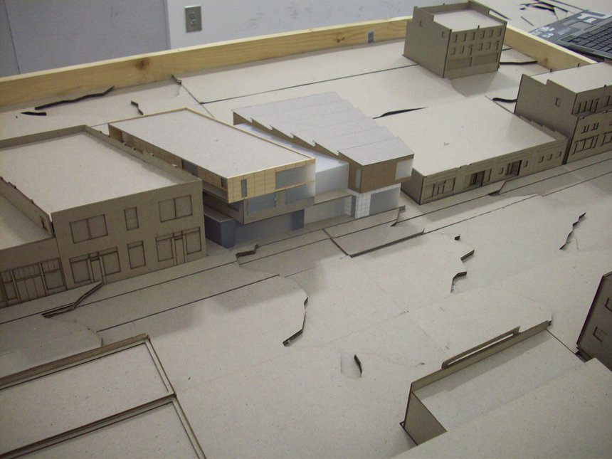 Model of my design for architecture studio