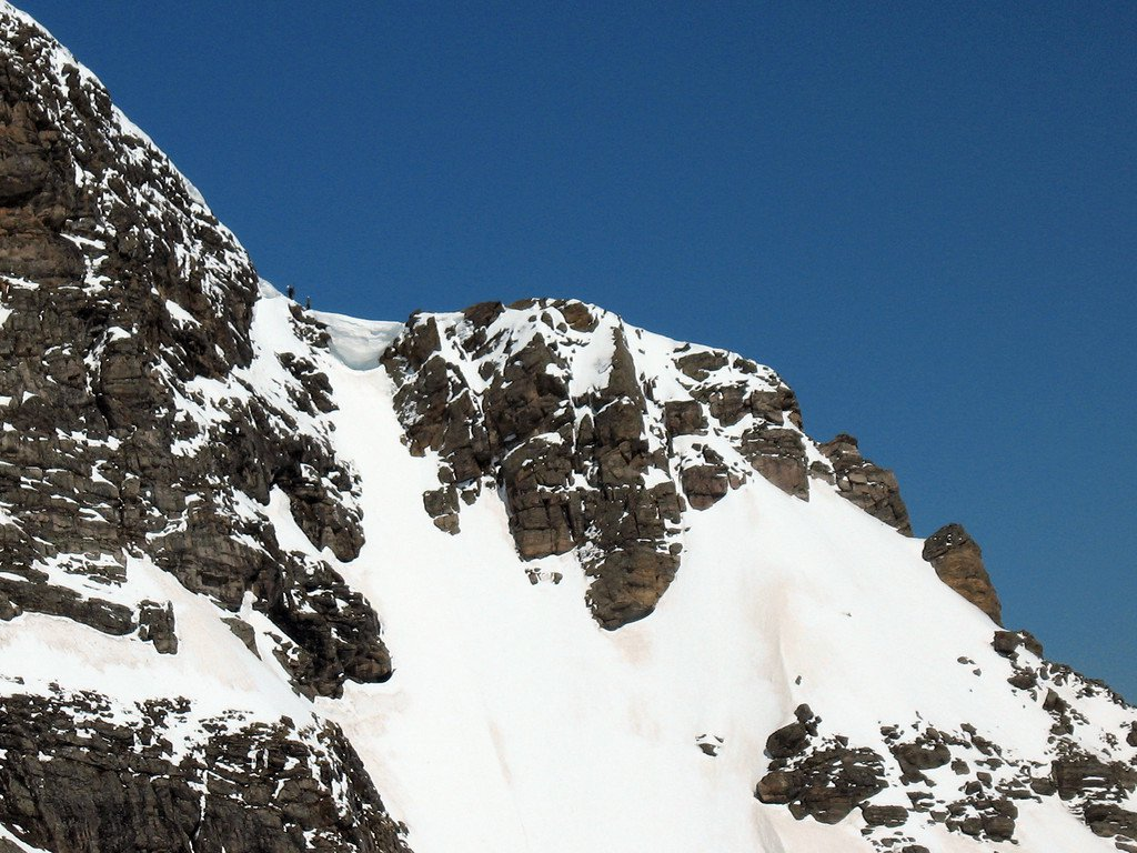 STEEP skiing off Super Star Couloir
