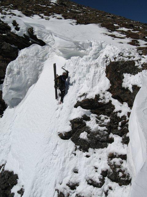 STEEP skiing off Super Star Couloir (entrance shot #1)