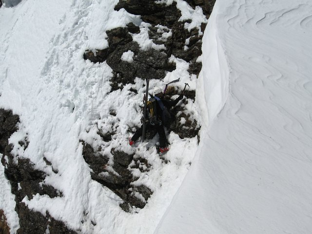 STEEP skiing off Super Star Couloir (entrance shot #3)
