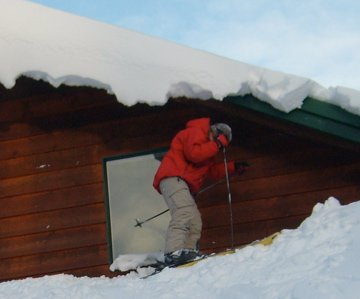 Roof Skiing