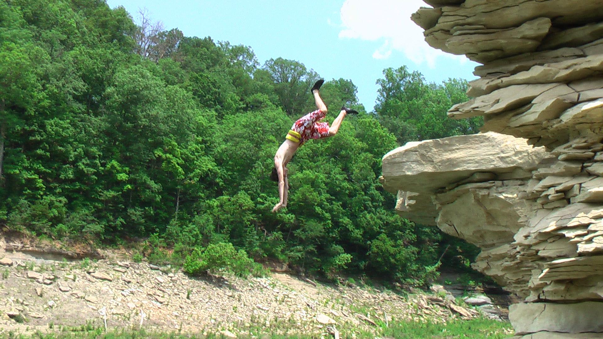 Superman Frontflip off a Cliff