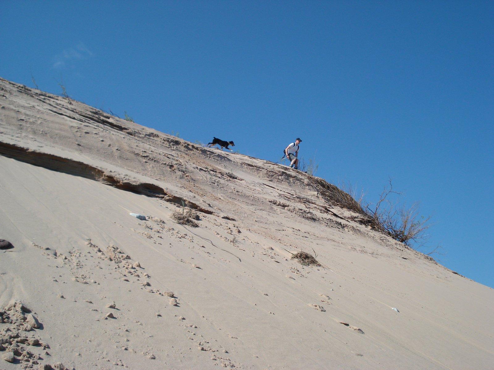Dune skiing