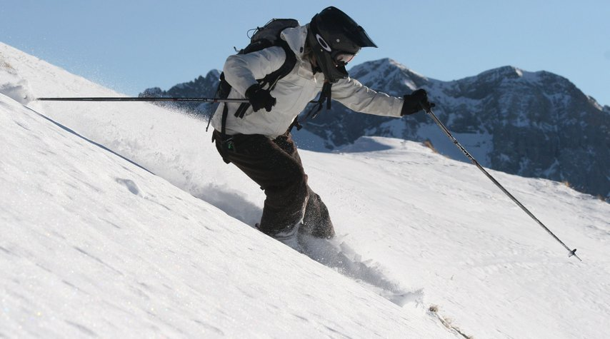 Rossi Mitova enjoying the French  back country