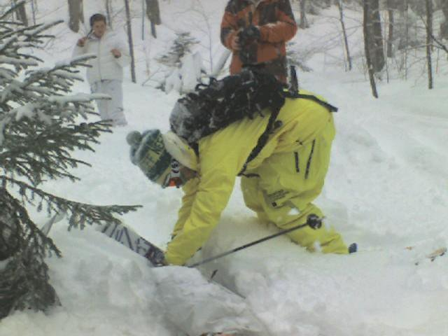 Diggin friend out at Sugarbush