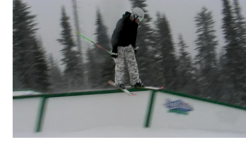 Another shot of the flat down rail at big white