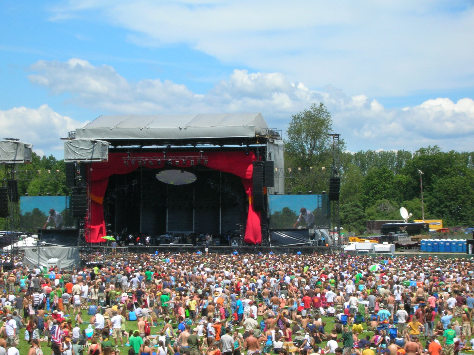 Mainstage at Rothbury during the Whalers