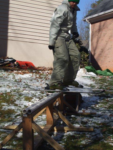 Snow in Atlanta-my backyard rail
