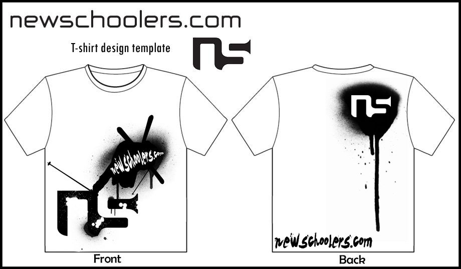 NS Paint Splatter T-Shirt