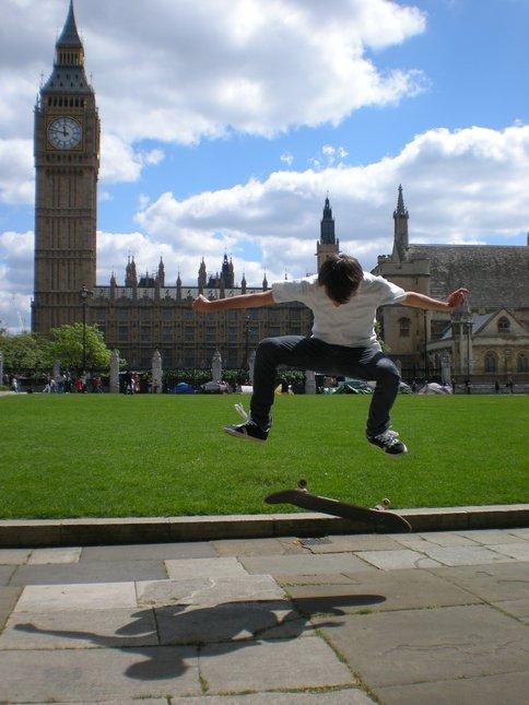 Kickflip in london!
