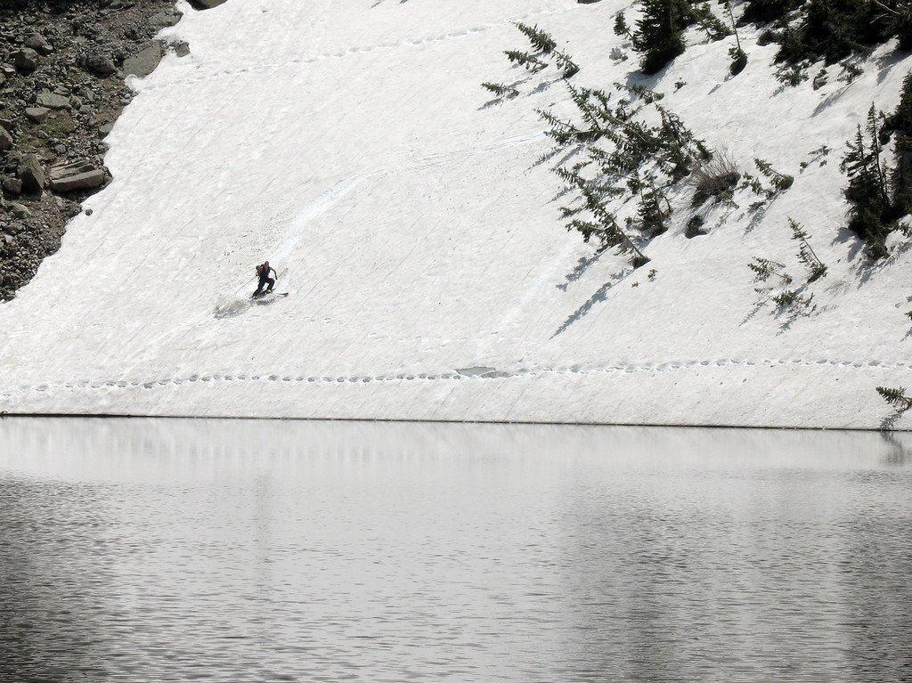 Skiing at Emerald Lake