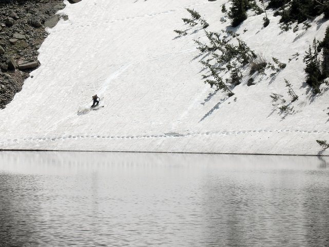 Skiing at Emerald Lake