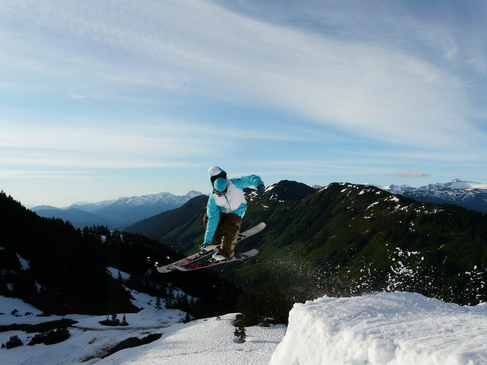 Skiing late june
