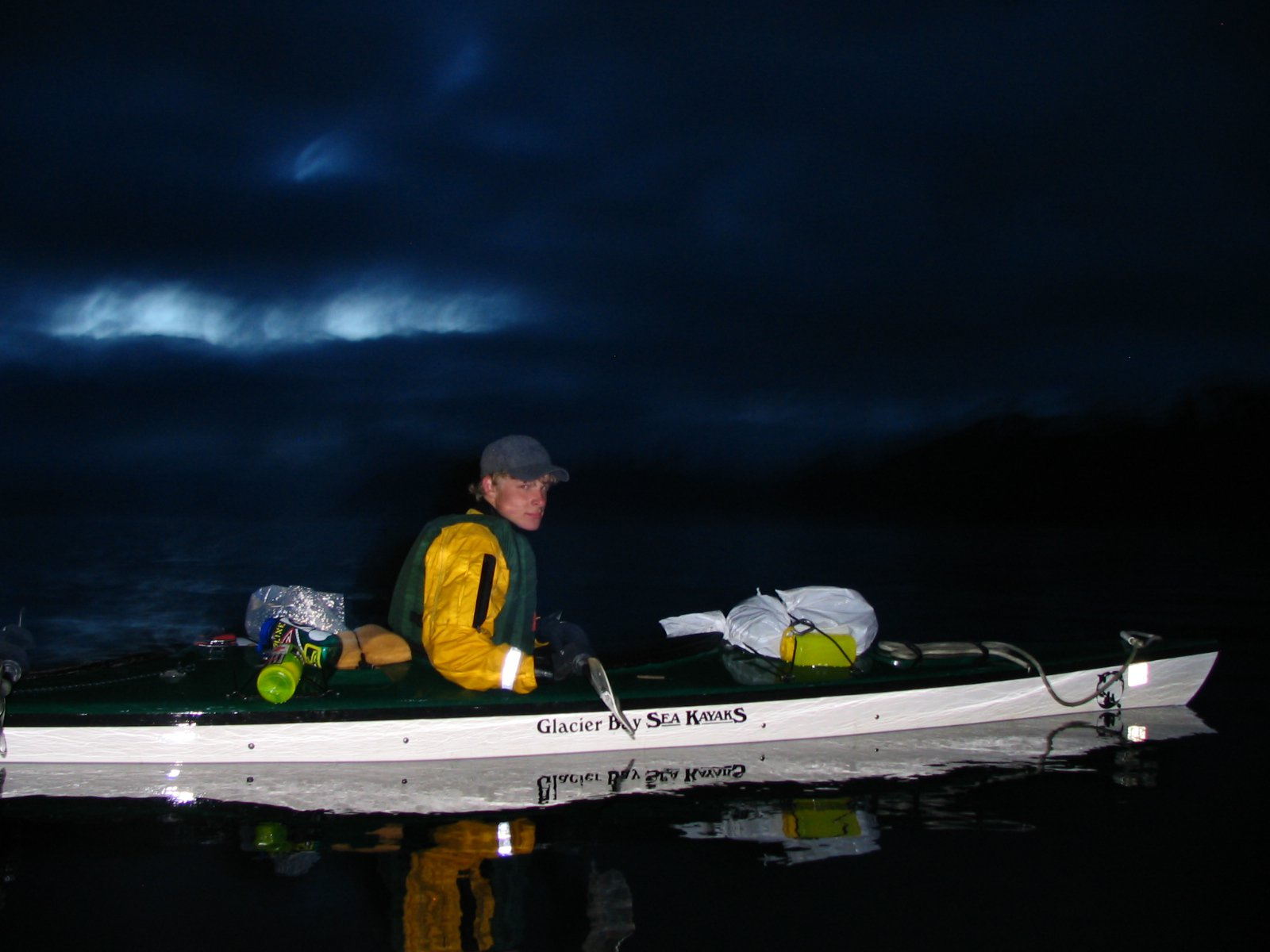 Midnight  ocean paddle