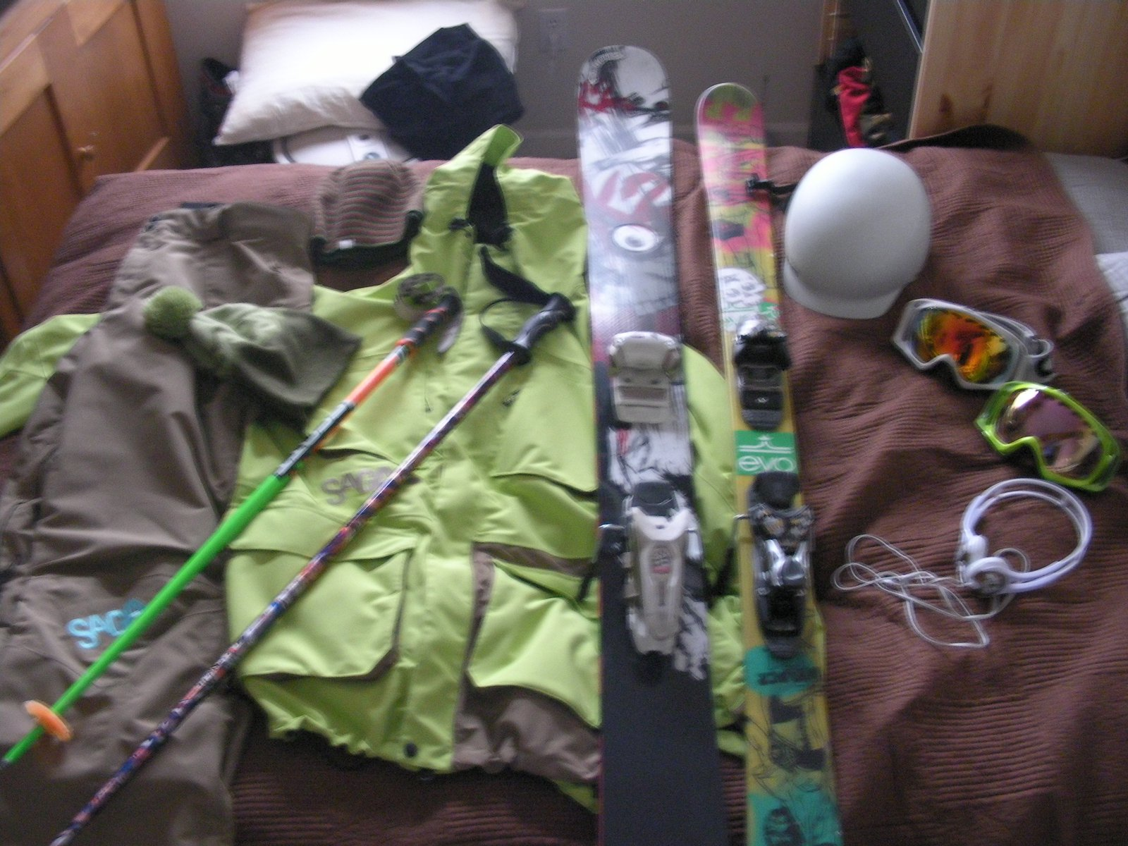 Some new gear and some old gear waiting for next season