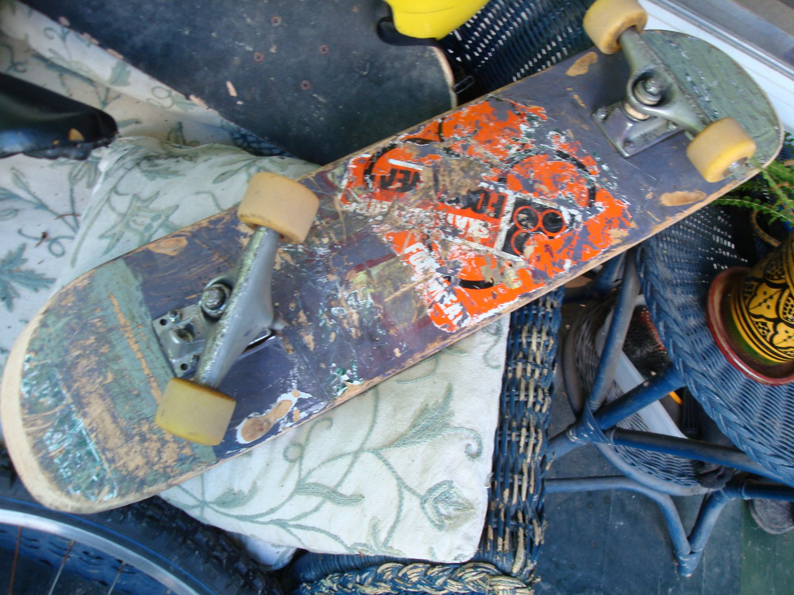 Broken skateboard truck