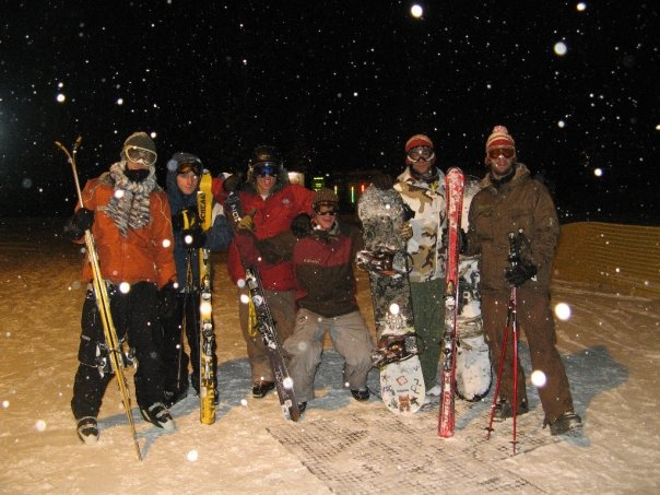 Night skiiing   AREA 51 YEAH!!