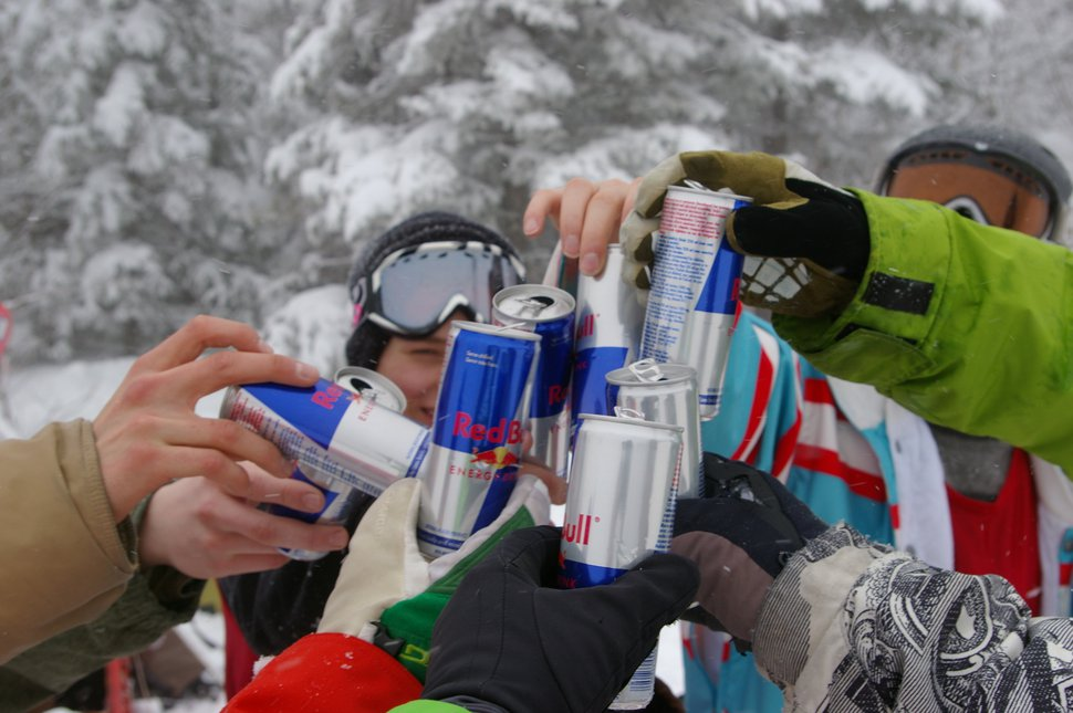Red bull cheers, fun times